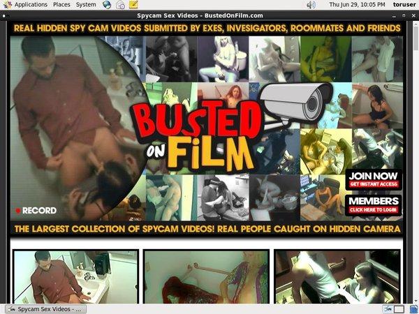 Bustedonfilm.com Sign Up Again