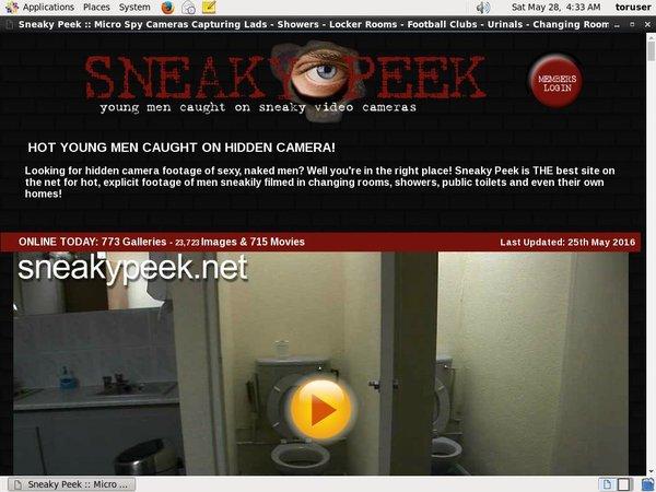 Sneaky Peek Password Account